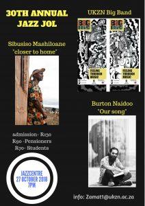 30th annual Jazz Jol @ UKZN Jazz Club (Howard College Campus) | Berea | KwaZulu-Natal | South Africa
