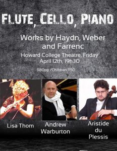 Flute, Cello, Piano Works by Haydn, Weber and Farrenc @ Howard College Theatre