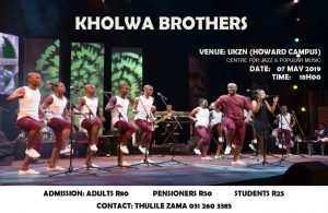 [TWOSDAY] Kholwa Brothers @ UKZN Centre for Jazz (Howard College Campus)