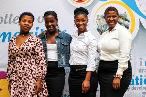 SA Music Rights Organisation bursary winners (from left) Ms Nobuhle Myeni, Ms Nomthandazo Makhanya, Ms Noluthando Maphumulo and Ms Zoliswa Michelle Mchunu.